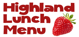 Highland lunch menu