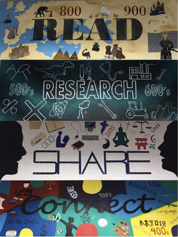 Read Research Share Connect Murals