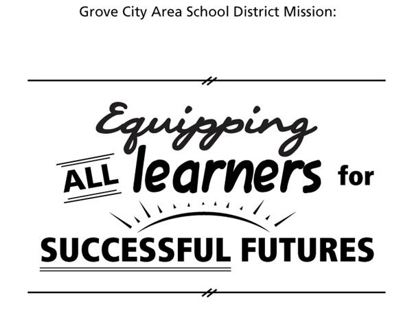 Grove City Area School District One Page Calendar